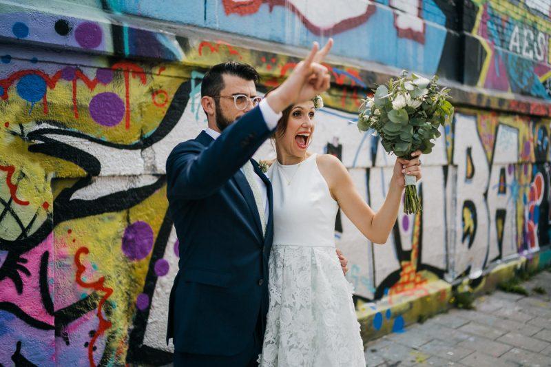 chris eberhardt grafitti wedding photo