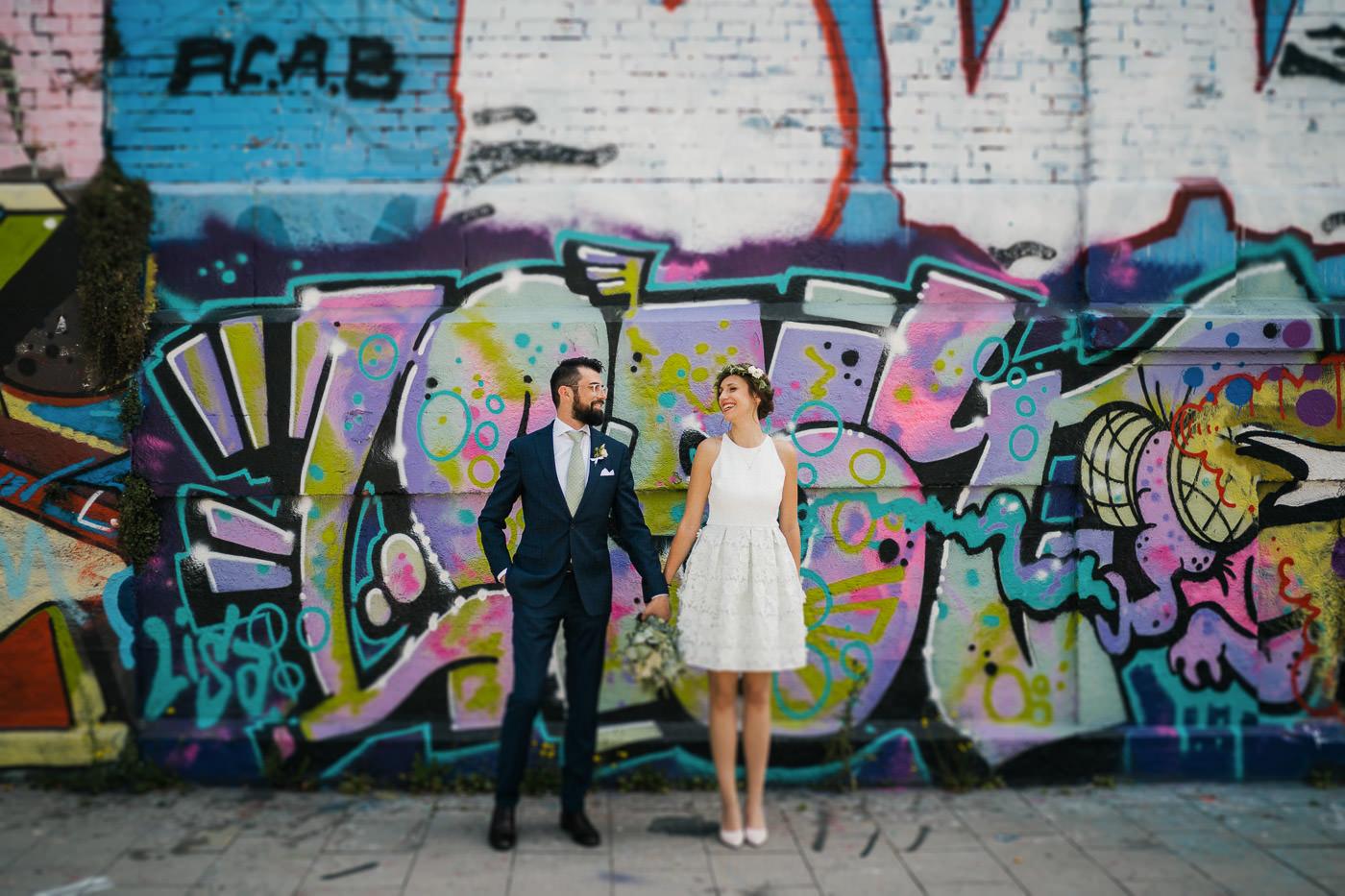 chris eberhardt short lace wedding dress