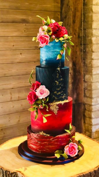 sassas cakes watercolour wedding cake