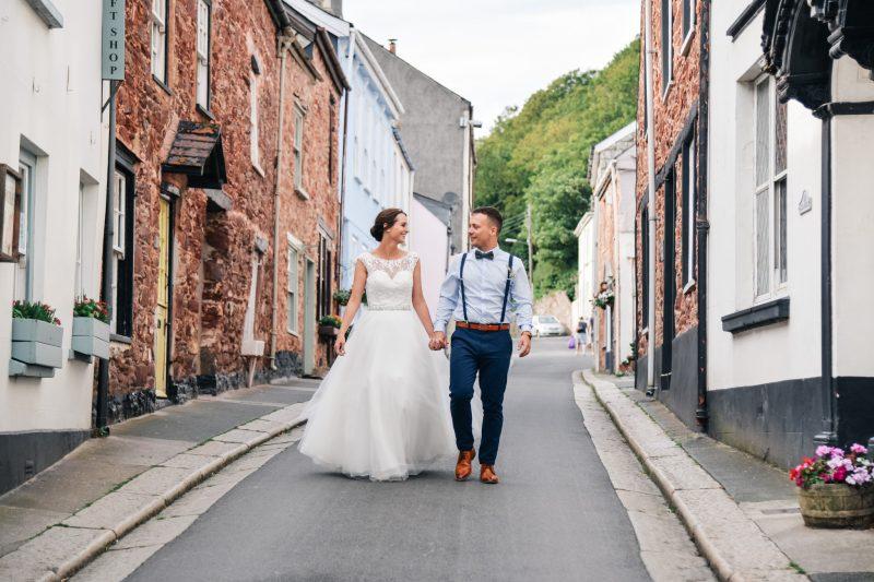 village wedding couple