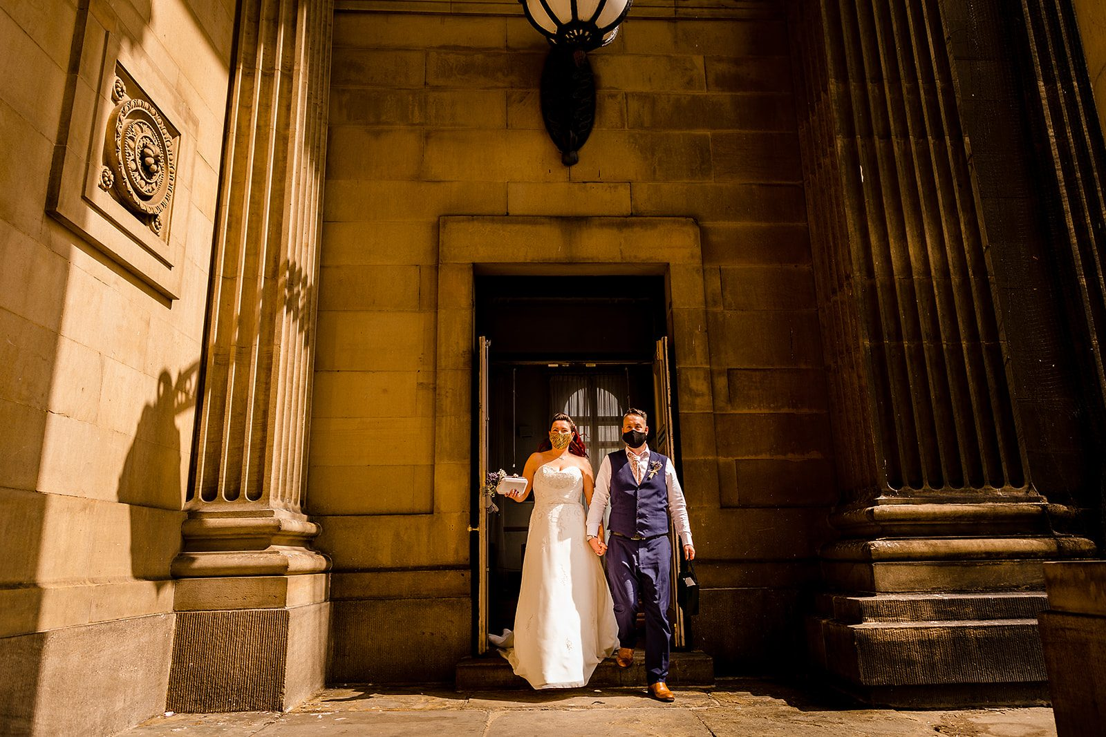 Intimate Leeds Town Hall Wedding during a Pandemic