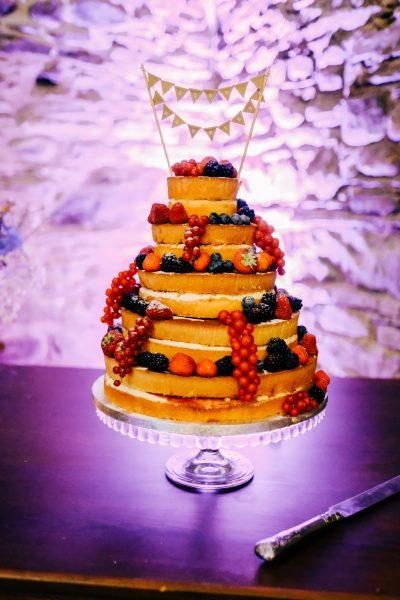 Waitrose naked wedding cake