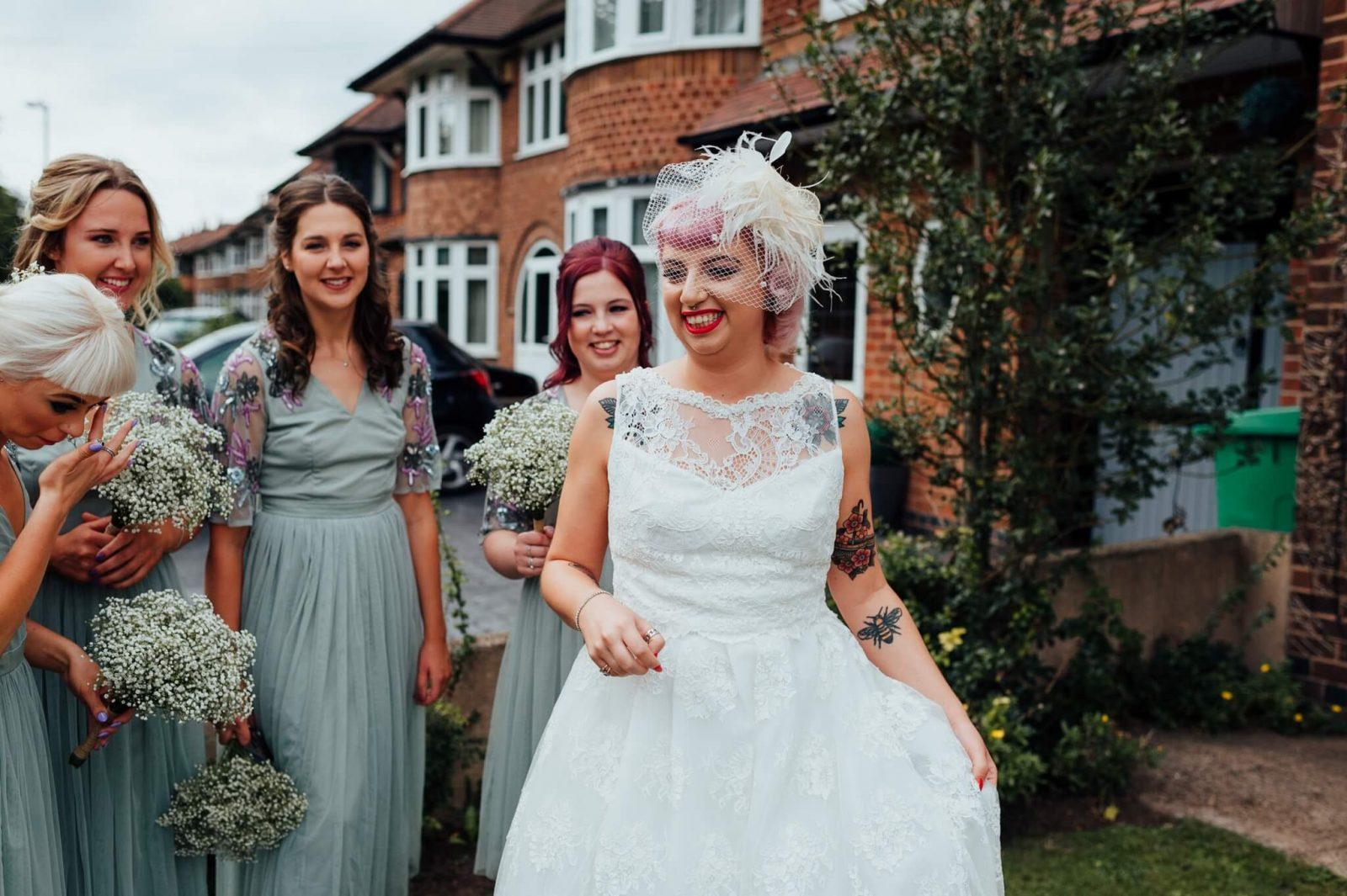vintage lace wedding dress sage bridesmaid dresses